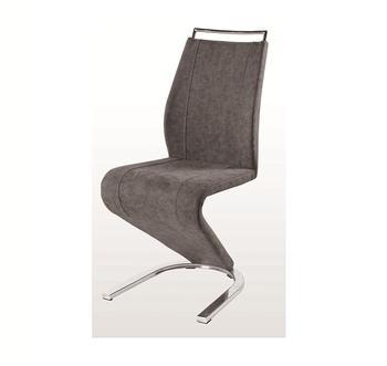Nouveau Design Z Forme Gris Moderne Simili Cuir Chaises De Salle A