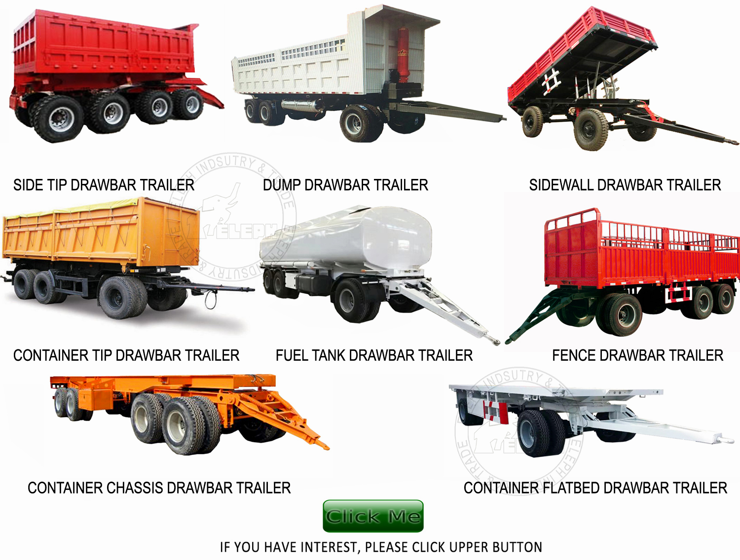 27000 Liters fuel oil storage tanker draw bar full trailer container dolly