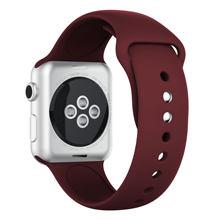Мягкая силиконовая лента для Apple watch Series 5 4 3 2 спортивный ремешок 42 мм 38 мм ремешок для наручных часов 44 мм для iwatch 40 мм 44 мм(Китай)