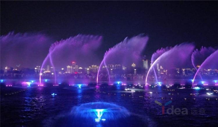 Indah 1D 2D 3D digital water fountain nozzle dengan lampu led warna-warni