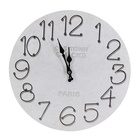 Wholesale Big white wood round design home hanging decoration wall clock