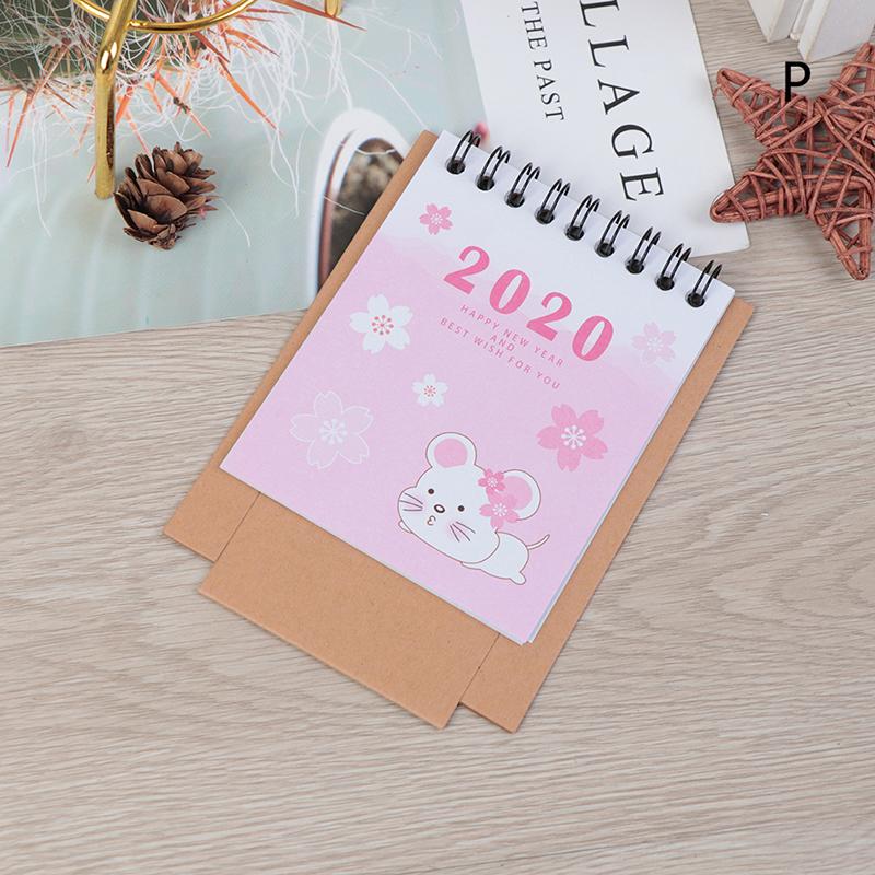 Ручной рисунок 2020 свежий мультфильм Мини Фламинго Настольный бумажный календарь двойной ежедневный планировщик настольный планировщик го...(Китай)