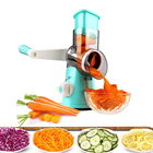 Mini Hand Round Drum Slicer Manual Vegetable Chopper