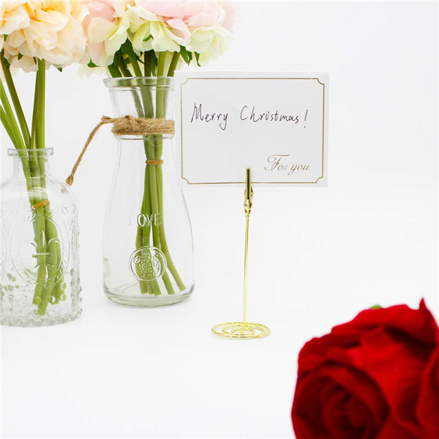2019 hot sale metal Wire Shape Place Card Holder Stands