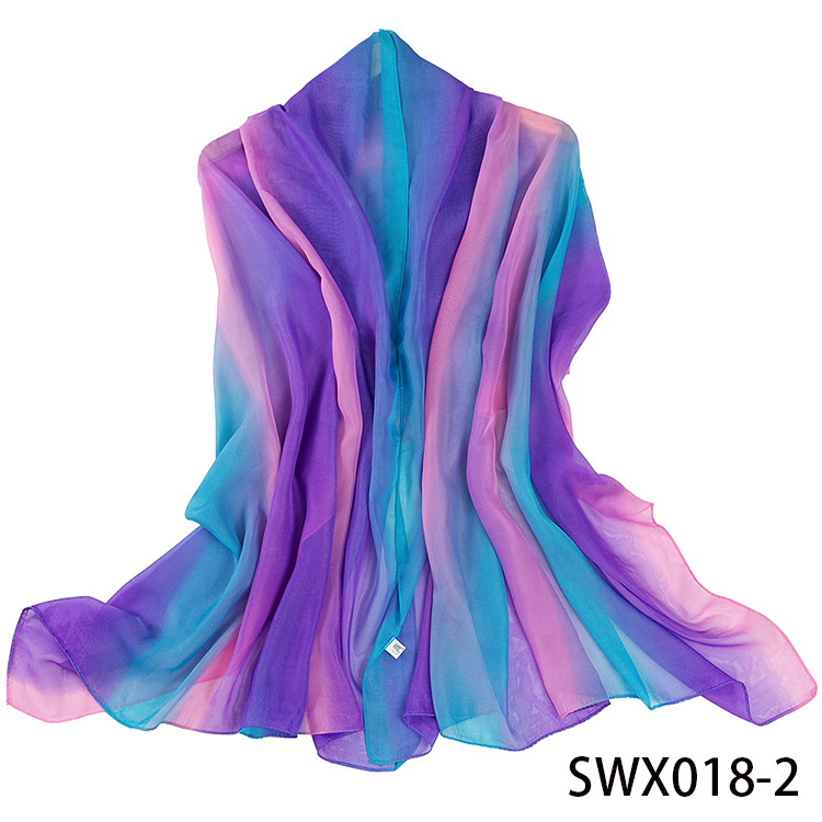 High Quality Fashion Colorful Rainbow Scarf Ladies Printed Scarves