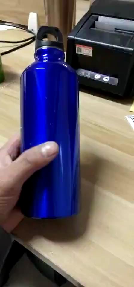 Custom logo outdoor leak proof metal sports bottle 750ml wholesale Aluminum Alloy drinking sport water bottle