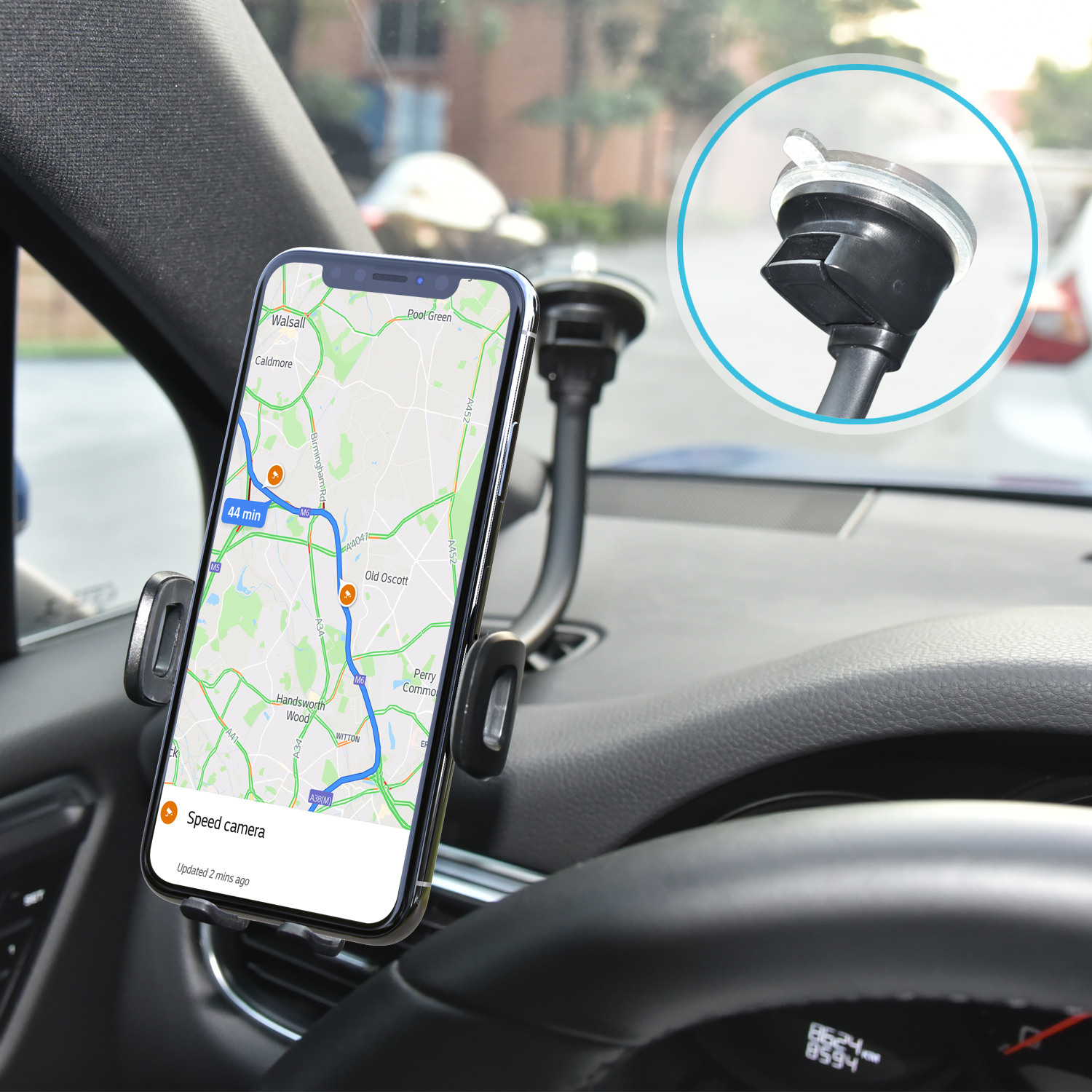 Sticky Telescopic Arm Dashboard Suction Cup Car Mount Tablet Holder For Phone Stand