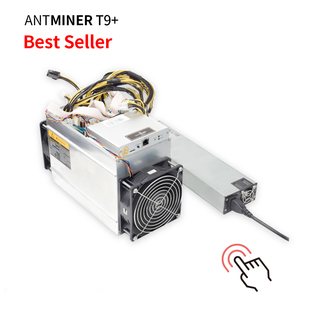 Low Noise and Consumption Atnminer T9+ 10.5th/s 1432W Asic Miner with PSU