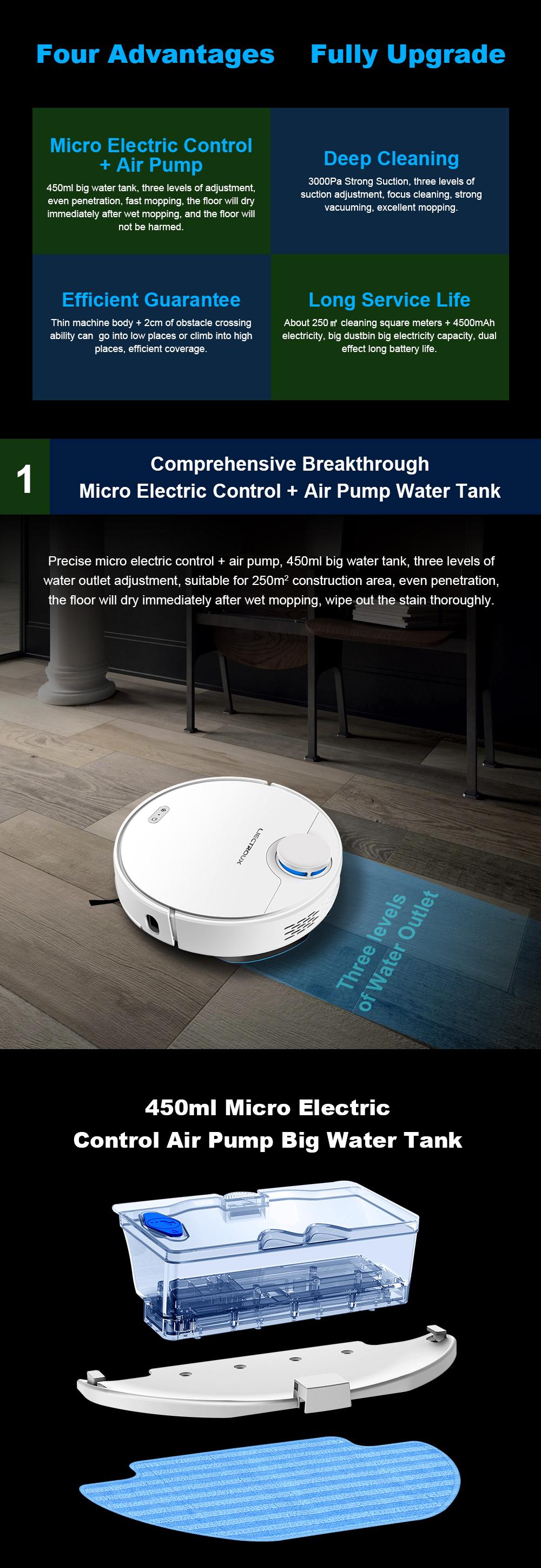 Liectroux ZK901 Robot Máy Hút Bụi 2020 Top Bán