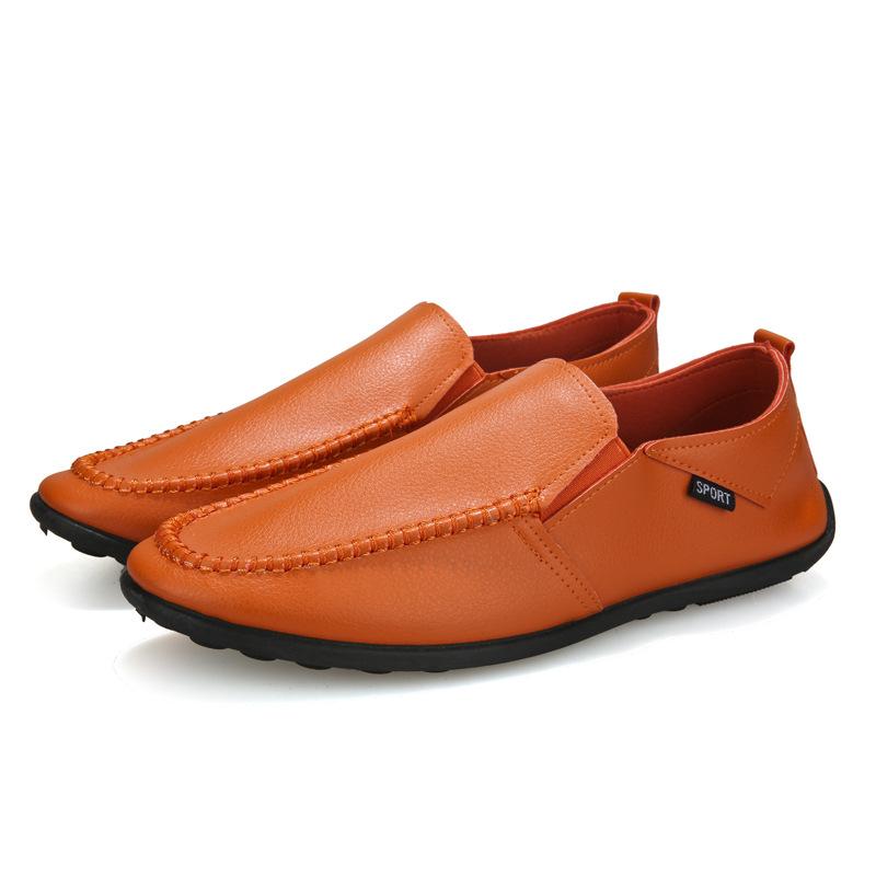 Atacado Outono Nova moda barata dos homens casual sapatos de couro liso