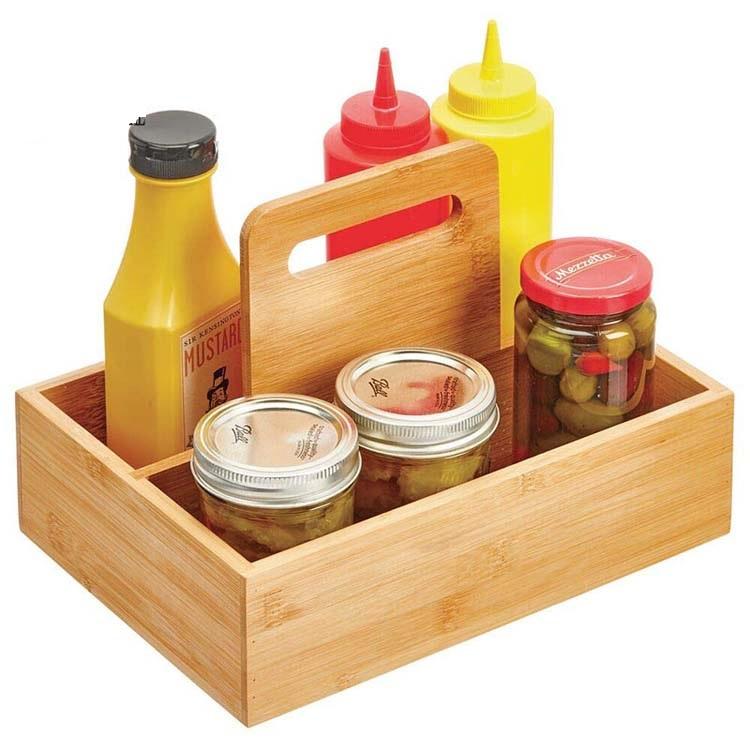 hot sales Wood Bamboo Organization Recipe Box with custom tissue paper rack