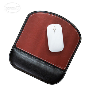 Factory customized PU Leather mouse Pad with Wrist guard