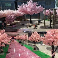 Guangzhou Songtao High Quality Wood Artificial Cherry Blossom Tree For Coffee Showcase Decor