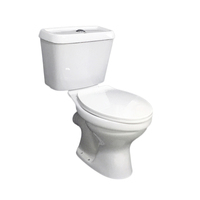Hot sell African Wc dual flush ceramic color toilet bathroom sanitary wares two piece twyford toilet set for ghana market