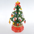 Christmas Gift Christmas Tree Music Box Decoration with Mechanical Carousel