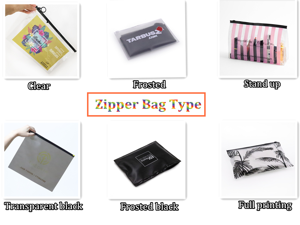 Custom biodegradable pvc clear bag shopping mini plastic ziplock produce bags packaging with own printed logo for hair packaging