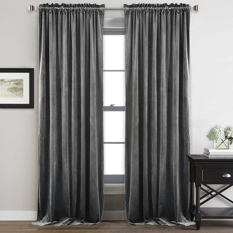 <strong>Home</strong> Textile silver velvet <strong>curtain</strong> luxury 100% Polyester High Shading velvet blackout <strong>curtain</strong>