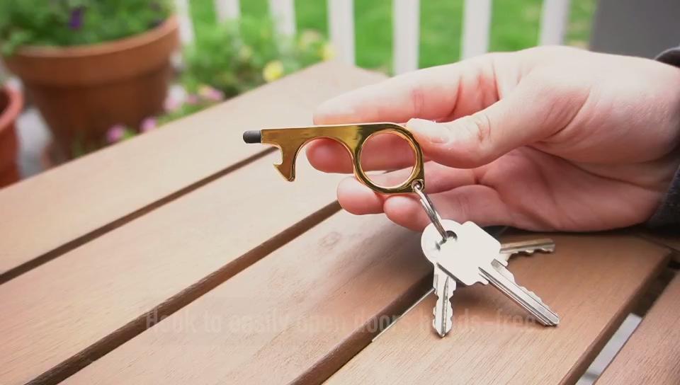 مصمم لطيف 3D المعادن بك جلدية رسالة الدفاع عن النفس توشليس الباب أداة فتح مخصص شعار المفاتيح