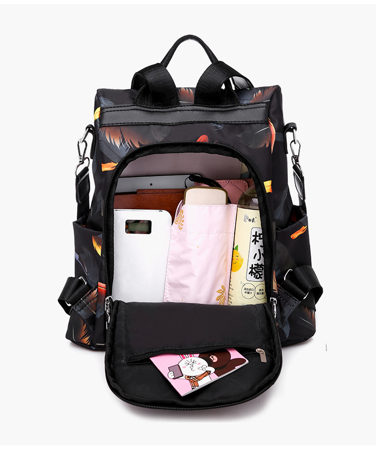 New Oxford backpack fashion feather anti theft backpack women's large capacity backpack