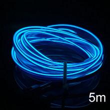 3/5m EL холодной линии Гибкая огни автомобиля 12V автомобильный светодиодный неоновая электрическая проволока авто лампы на автомобиле с холод...(Китай)