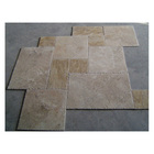 french pattern chiseled travertine