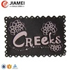 Custom denim pants back pu leather patches for embossed jeans label