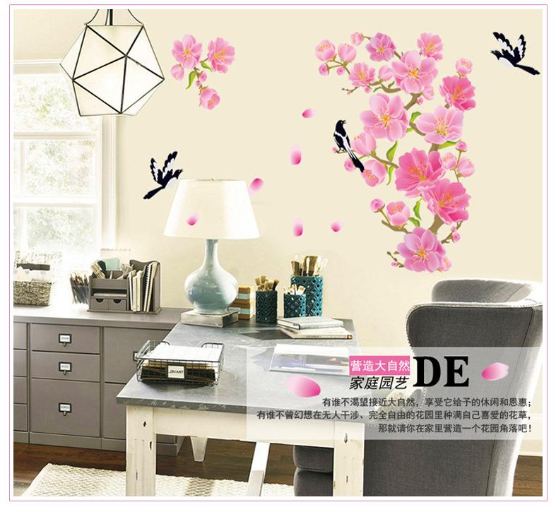 Модные креативные сороки ветви на гостиная спальня столовая ТВ фон ПВХ стикер
