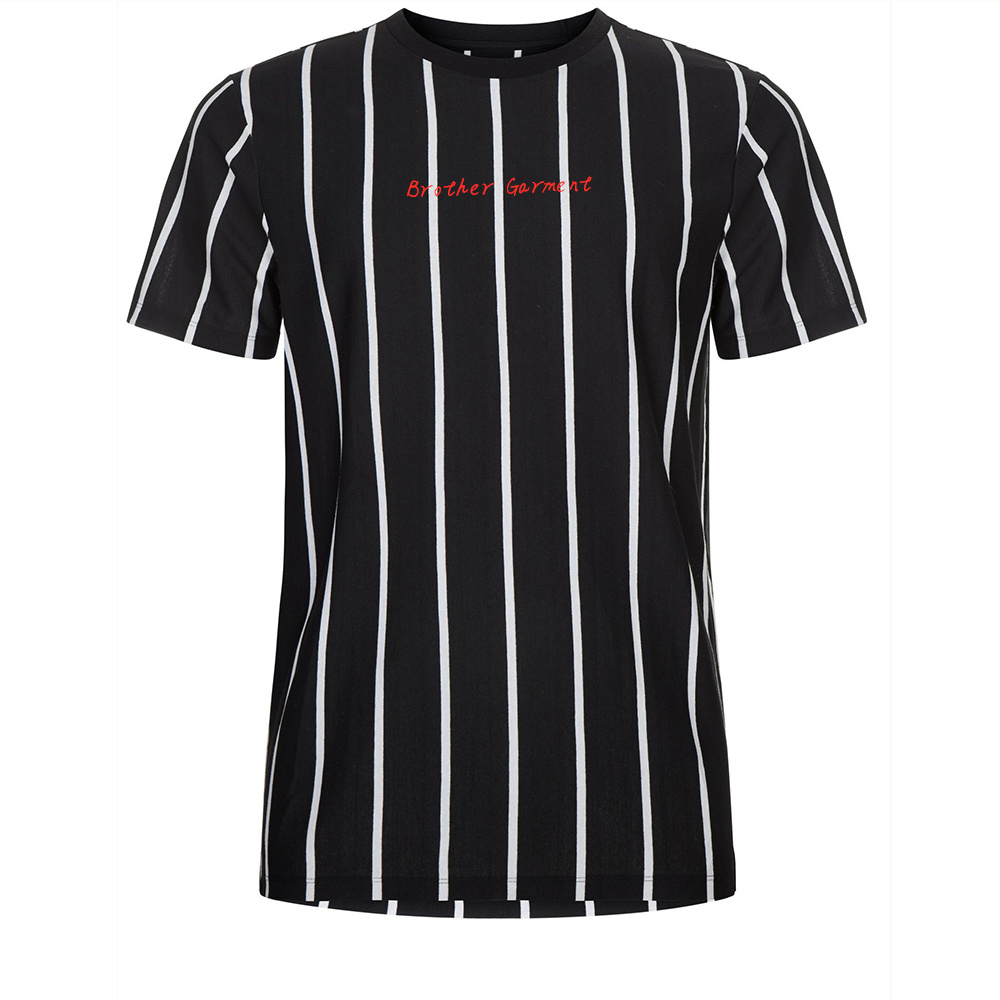 Suppliers summer stripe t-shirt high quality plain unisex high quality t shirt