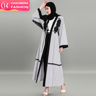 1584# Hot 2018 lace embroidery front open abaya kaftan elegant fashion design for muslim ladies muslim wear supplier