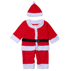 High quality machine red christmas grade baby clothes set Christmas Santa Claus costime baby clothing set long sleeve shirt+ruff