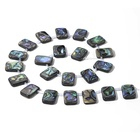 Wholesale Top Drilled Flat Rectangle Abalone Paua Shell Beads With Spacer For Pendant Spacer Jewelry Making