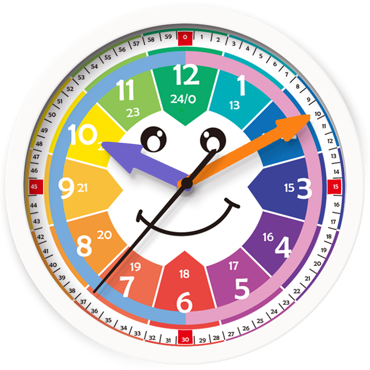 Promotional White Children Learn Clock Round Quartz Wall Clock