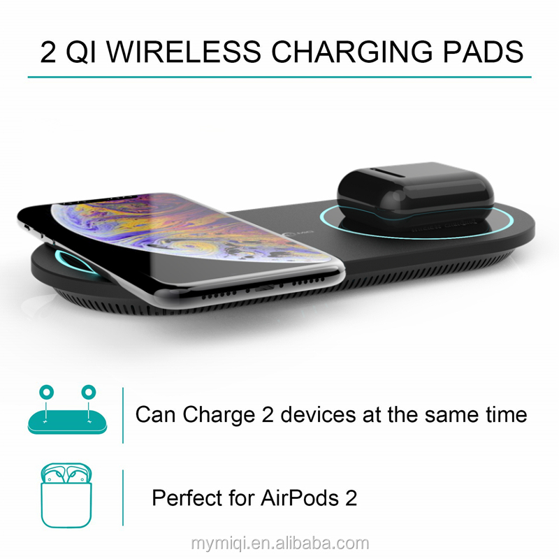 Hot Sale Dual Coil Wireless Charger Qi Fast Charger for iphone