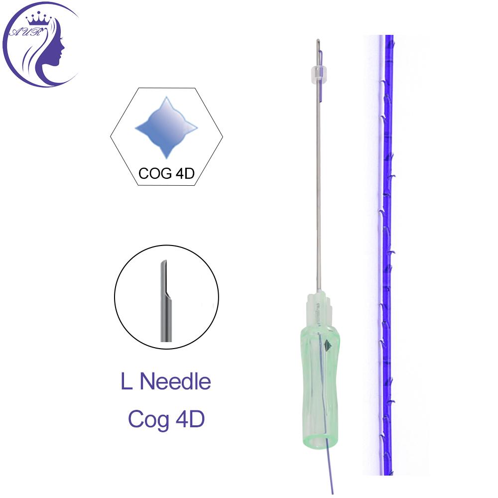 Cog 4D 19G 100mm L needle cosmetics korean hilos tensores barbed ultra v lift face lifting cog thread pdo
