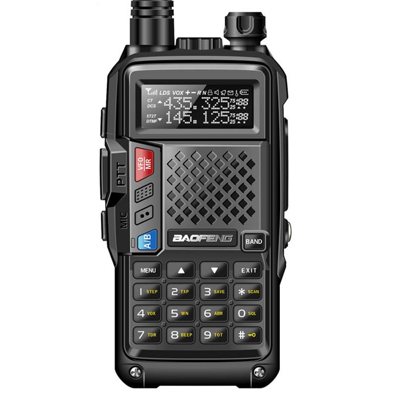 BAOFENG BF-UVB3 PLUS UHF de Alta Potência/KM Thickenbattery Walkie Talkie de Longo Alcance VHF Dual Band 10 Múltipla Modo De Carregamento