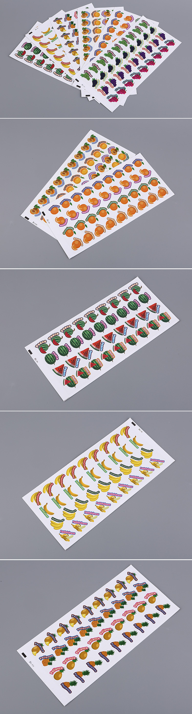 Custom Fragrant Adhesive Sticker Scratch and sniff Sticker with Sweet Fruit Scent for Promotional Gift