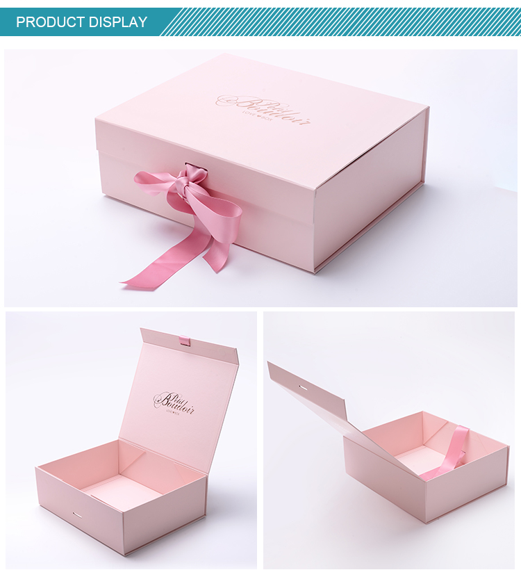 22 Year Oem Service Wholesale Cosmetic Box Packaging Folding Gift Box With Ribbon