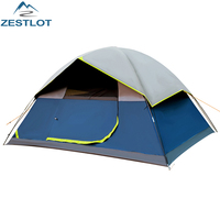 4-5 Person Ultralight Waterproof UV Protection Black Coating Portable Outdoor Camping Tent