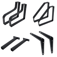 Wall Mounting Bracket Iron Right Custom Triangle Supports Shelving 90 Degree L Shaped Angle Metal Shelf Wall Mounting Bracket