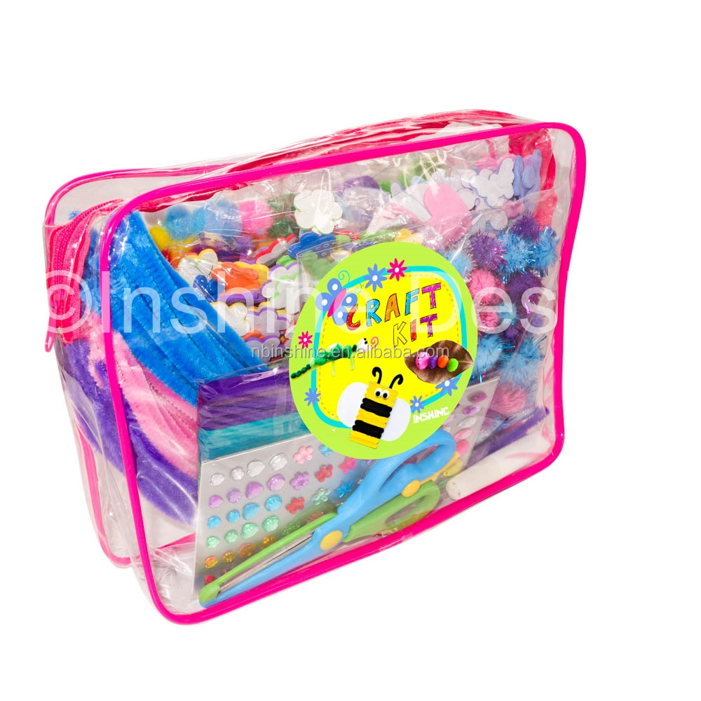 Giant art box including diy material arts&crafts supplier for toddler