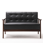 2020 New Model Living Room Leather Sofa Solid Wood Arms Sofa Spring Painting Sofa Home Use Hotel Use