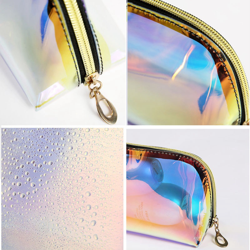 product-Fashion Women Makeup Case Laser Cosmetic Bags Transparent Cosmetic Pouch Ladies Jelly Bag Po-1