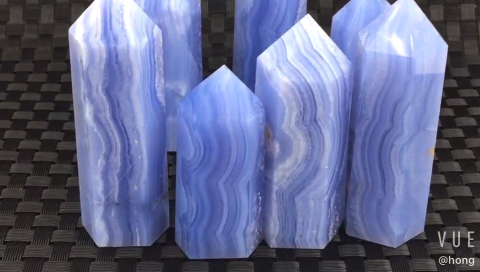 천연 블루 레이스 마노 사용되는 장식 및 선물