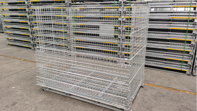 Steel Pallet Box Cage Wire Mesh Box Container