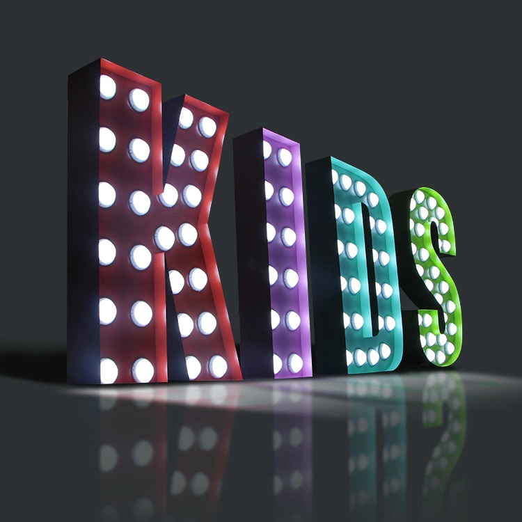 Led Lighted Up Alphabet 3ft 4 Foot Acrylic Indoor Luminous Sign Marquee Letter Symbols