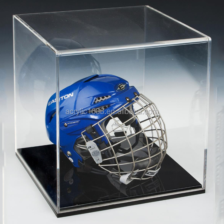 High quality customized plexiglass helmet display case