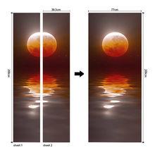 3D наклейка на дверь самоклеющиеся водонепроницаемые обои для дверей гостиной спальни постер DIY настенные наклейки домашний декор наклейка(Китай)