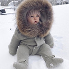 Baby Baby Wears NEW Fur Hoodie Full Body Toddler Outfit Winter Baby Wear Children Jumpsuit