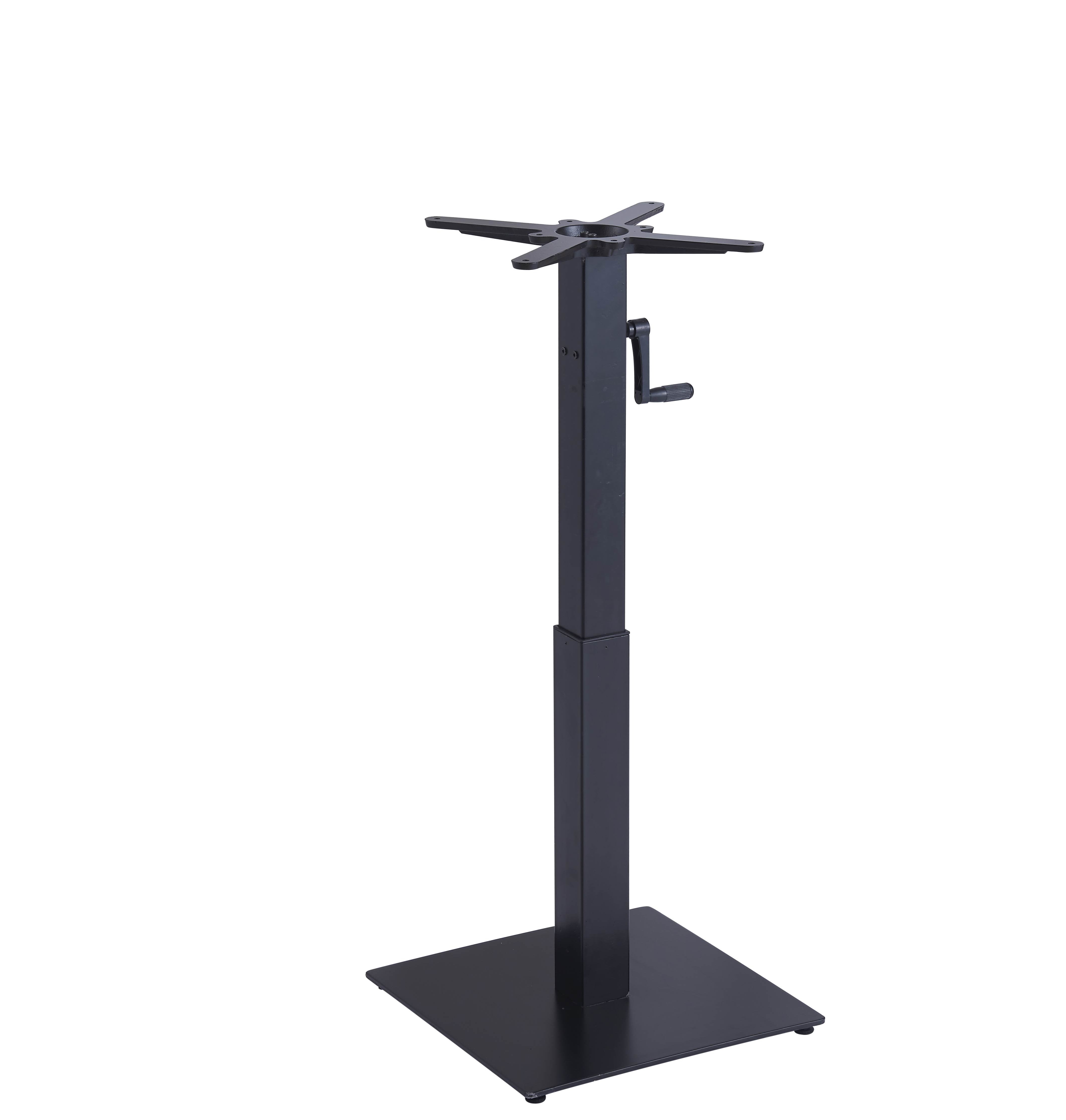 indoor hand crank adjustable steel table leg with  table top