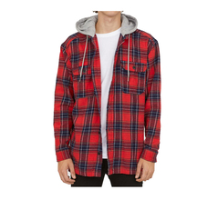 New Arrival 긴 Sleeve Hooded 도매 Flannel plaid Shirt autumn winter hoody shirts man shirt oem